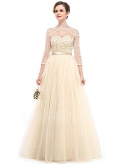 Evening Dresses - $199.99 - Ball-Gown Sweetheart Floor-Length Satin Tulle Evening Dress With Beading Flower(s) (017050130) http://amormoda.com/Ball-gown-Sweetheart-Floor-length-Satin-Tulle-Evening-Dress-With-Beading-Flower-S-017050130-g50130