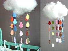 Mobiles homemade : un mobile nuage en coton tout doux