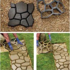 Paving Concrete Mold Garden Stone Mould Mould Driveway Pathmate Pavement