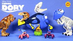 New Finding Dory Disney,Pixar Disguise Action Figure Set W Jurassic Worl...