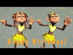 Funny Happy Birthday Song. Monkeys sing Happy Birthday To You - YouTube Happy Birthday Dancing, Singing Birthday Cards, Happy Birthday Wishes For A Friend, Happy Birthday Funny Humorous, Happy Birthday For Him, Birthday Wishes Funny, Happy Birthday Messages, Card Birthday, Birthday Quotes