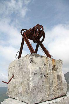Old cable car at the Val Pulita Quarry Carrara #TuscanyAgriturismoGiratola