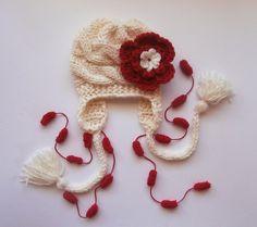 Baby Girls Hat Photo Prop  Newborn Hat Baby Hat by KnittingLand, $19.50