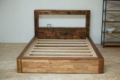 Rustic Reclaimed Platform Bed | Shenandoah Platform Bed by BlakeAvenue on Etsy