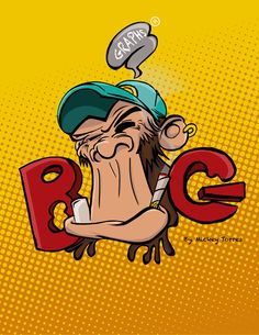 Graffiti CRAZY MONKEYS (GRAPS) by Mickey Torres, via Behance
