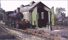 Adams 4-4-2 radial tank no. 30585 waits beside the minimal engine shed at Lyme…