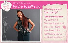If you haven't already, have a look at Thithi's brilliant blog -> www.teeteeiswithme.com Face Care Tips, Wear Sunscreen, My Father, Skin Care, Love, Website, Pretty, Amor, Skincare
