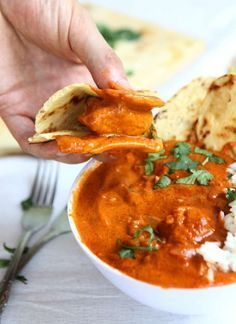 Indian Butter Chicken | thekitchenpaper.com (vegan butter + coconut cream)