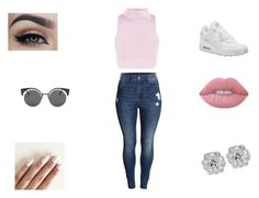 """""""Untitled #170"""" by tanaijahd ❤ liked on Polyvore featuring H&M, NIKE and Lime Crime"""