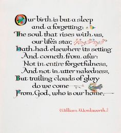 William Wordsworth Poems | William Wordsworth, Our Birth is But a Sleep
