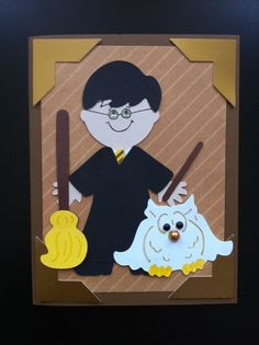 Harry Potter Card done with Cricut Dress Up Paper Dolls.