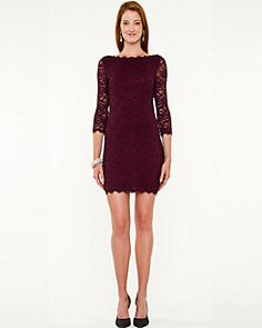 Lace Boat Neck Cocktail Dress