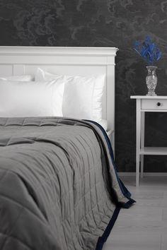 Lennol   MELANIE bedspread, grey-blue Fresh Meadows, Soft Pillows, Bedspread, Linen Bedding, How To Fall Asleep, Blue Grey, Comforters, Blanket, Furniture