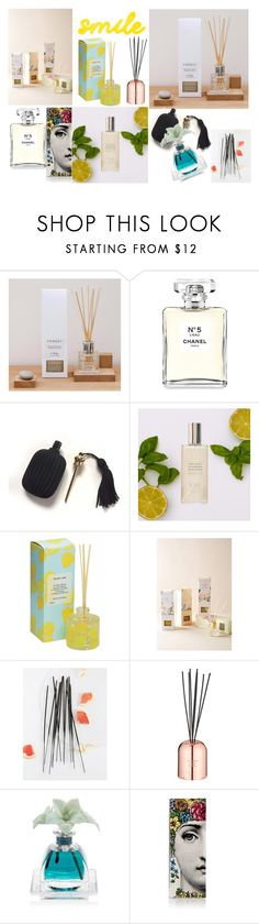 """Scented smile~"" by avantika22july ❤ liked on Polyvore featuring interior, interiors, interior design, home, home decor, interior decorating, Chanel, Spring's Eden, Norden and Tom Dixon"