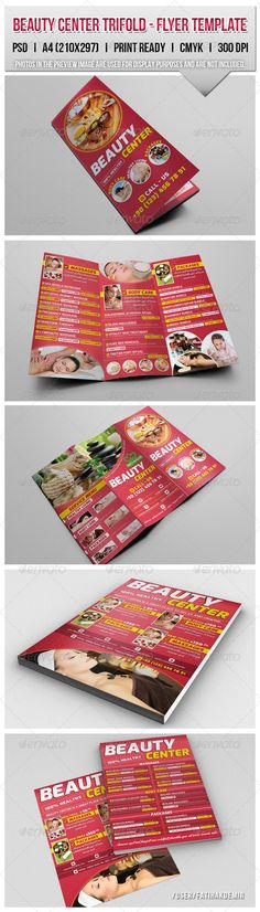 Beauty Center Trifold & Flyers Template - Corporate Flyers