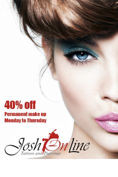 40% Off Permanent Make Up On Monday To ThursDAYS Line Tattoos, Make Up, People, Beauty, Wallpaper, Makeup, Cosmetology, Make Up Dupes, Wallpapers