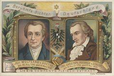 Berühmte Dichter Deutschlands (Johann Wolfgang von Goethe & Johann Christoph Friedrich von Schiller)