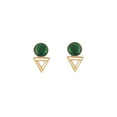 Triangle Winter Cabochon Stud (More Options)