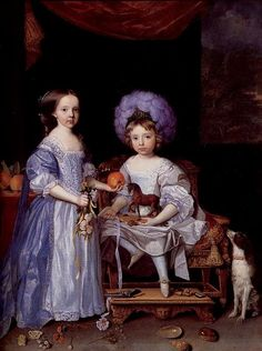 John Michael Wright (1617-1694) —  James Cecil and his sister Lady Catherine, 1669 (596x800)