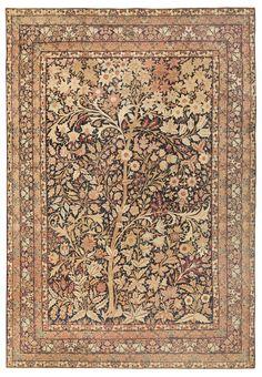 Antique Kerman Persian Rug 41805 Main Image By Nazmiyal Carpet