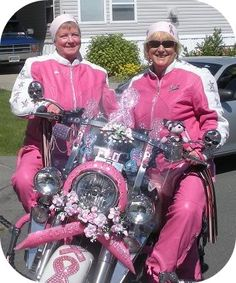 Riders for Breast Cancer Awareness.