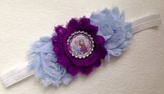 Frozen shabby flower headband by TheLaBellaBoutique on Etsy https://www.etsy.com/listing/249735383/frozen-shabby-flower-headband