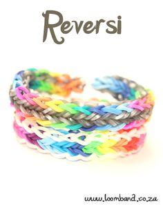 Reversi Loom Band Bracelet Tutorial