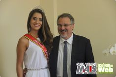 Prefeito recebe visita da representante de Osório no Miss Universo RS