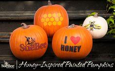 Honey-Inspired Painted Pumpkins
