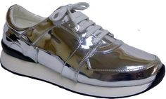Womens Penny Loves Kenny Techno Sneaker - Silver Polyurethane - FREE Shipping & Exchanges