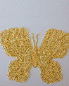Picture of Beautiful Butterfly Doily Crochet Pattern