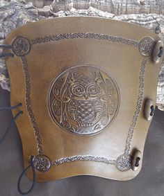 Embossed Celtic Owl leather archery arm guard, bracer, armguard, larp, pagan on Etsy, $34.14 @Holland Lapp