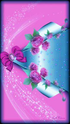 By Artist Unknown. Bow Wallpaper, Phone Background Wallpaper, Flowery Wallpaper, Luxury Wallpaper, Cute Patterns Wallpaper, Butterfly Wallpaper, Cellphone Wallpaper, Wallpaper Backgrounds, Iphone Wallpaper
