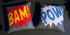 Onomatopoeia Bam Pow Teen Baby 12 Square by PersimmonHills on Etsy, $45.00