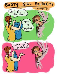 Bra-less? Girls can do that?? Weird...