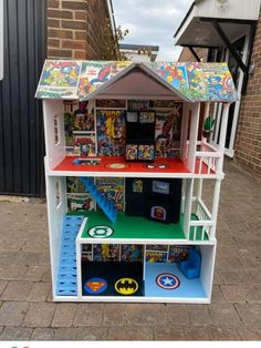 Diy Crafts For Gifts, Fun Crafts For Kids, Projects For Kids, Diy Projects, Doll House For Boys, Toys For Boys, Toy House, Lego House, Kids Indoor Play