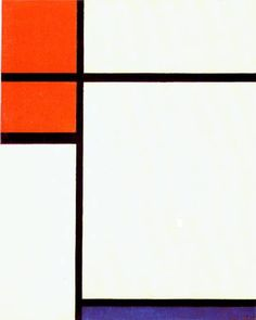 "Piet Mondrian ""Composition in Red, White, and Blue"""