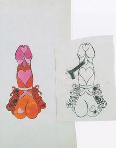 Andy Warhol - Male Genitals, c. 1955