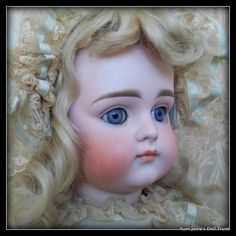 """Lovely German Early Kestner Closed Mouth Pouty XI Blue Eyes 16"""""""