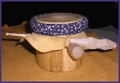 Native American Drums - Iroquois Water Drum. By a Cayuga Artist.