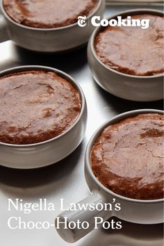 There is no dietary defense for these choco-hoto-pots: they're just good. Think ponds of molten chocolate sauce enclosed in chewy-topped, dense chocolate sponge. One can paint the lily here by adding a sprinkle of white chocolate morsels. (Photo: Jim Wilson/The New York Times)