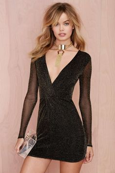 Nasty Gal Light It Up Lurex Dress | Shop Dresses at Nasty Gal $78 http://www.nastygal.com/clothes-dresses/nasty-gal-light-it-up-lurex-dress