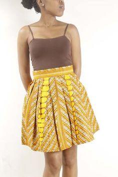 Yellow Kitenge Skirt