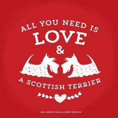 Discover All You Need Is Love + A Scottie! T-Shirt from Scottish Terrier Sale, a custom product made just for you by Teespring. - All You Need Is Love & A Scottish Terrier Happy Studio, Terrier Dogs, Bull Terriers, Dog Quotes, Life Quotes, Chor, All You Need Is Love, Westies, Beautiful Dogs