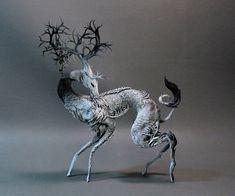 Black Tail Kirin  original OOAK sculpture by creaturesfromel, $525.00