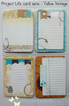 DIY project life card series Yello vintage . more to see on www.chicstamping.com