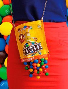 Witzige Accessoires, die Appetit machen #tasche #m&m #süßigkeiten