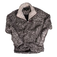 Frosty Tipped Pile 1/2 Zip Pullover in Charcoal by True Grit #$100-to-$200