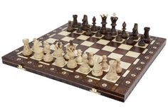 Buy Ambassador Handmade Wooden Chess Set w/ 21 Inch Board and Detailed Chessmen - Topvintagestyle.com ✓ FREE DELIVERY possible on eligible purchases