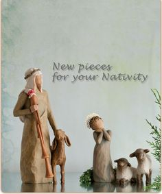 Ideas For Willow Tree Figurines Mom Nativity Sets Willow Tree Statues, Willow Tree Nativity Set, Willow Tree Angels, Willow Tree Figurines, Christmas Nativity Set, Christmas Angels, Christmas Art, Nativity Sets, Christmas Tree Quotes